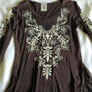Vocal Tops - Vocal long sleeve cowgirl top size(s)